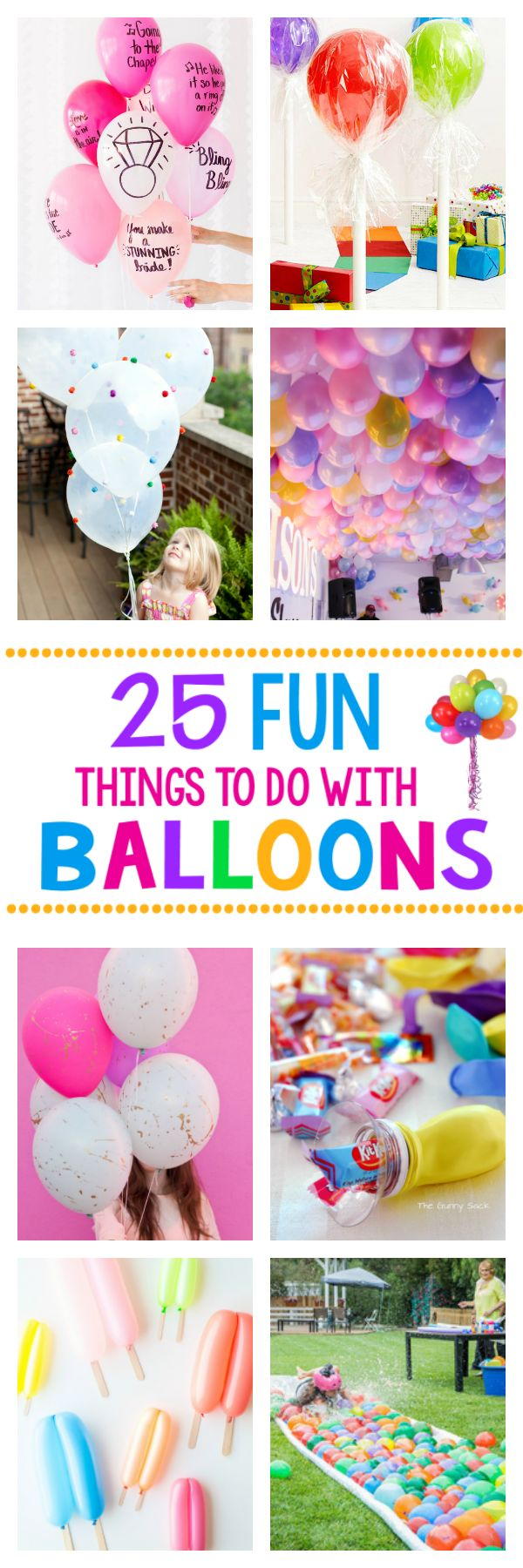 244 best diy decorations images on pinterest birthdays for Cool things to do with balloons