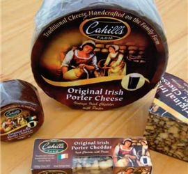 Cahill's Porter - The original and definitive hand-crafted Irish Porter Cheese. #Australia #Cheddar #Porter #Irish #IrishCheese #EnglishCheese #lovecheese