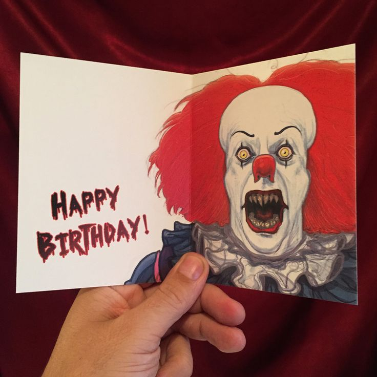 Superb It Pennywise Birthday Card Fun Fan Art From Tumbler Personalised Birthday Cards Xaembasilily Jamesorg
