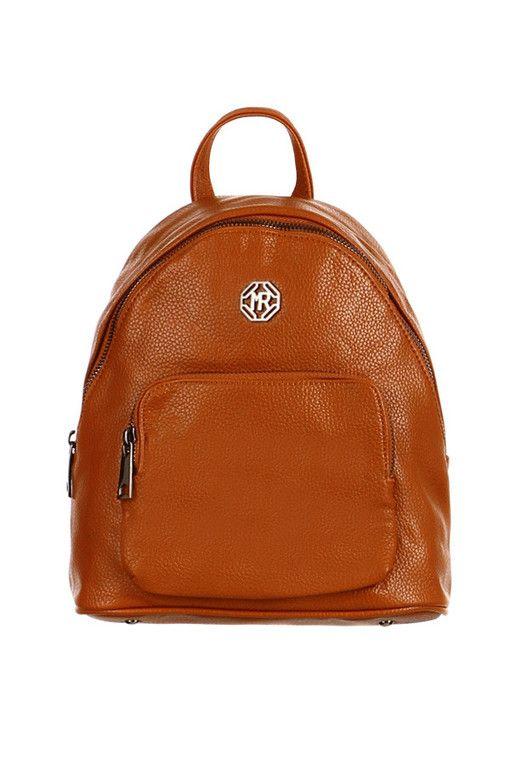 Dámský městský elegantní koženkový batůžek s přední kapsou  cb41f52bd7
