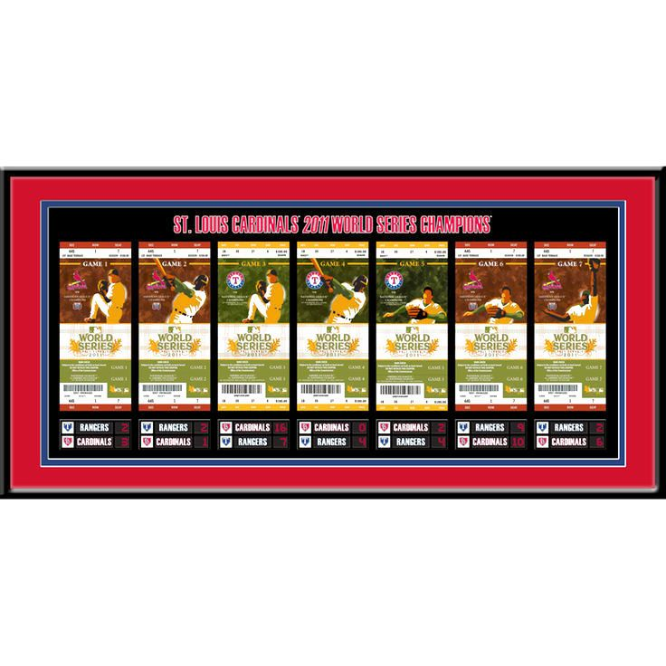 """St. Louis Cardinals 24"""" x 12"""" 2011 World Series Tickets To History Framed Print - $39.99"""