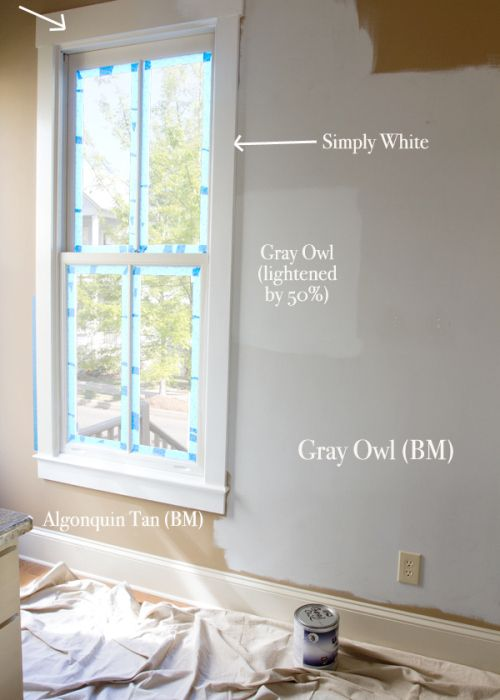 Learn ALL about Benjamin Moore Gray Owl.  This shows Gray Owl lightened by the ever awesome @letteredcottage  #GrayOwl #GrayPaintColours