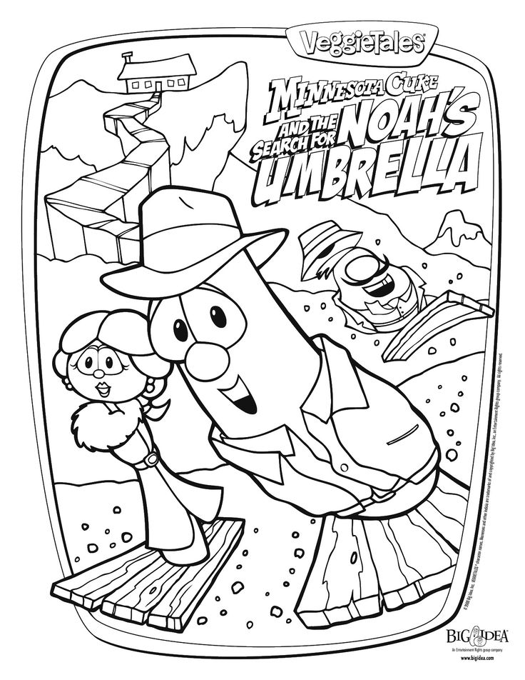 43 Veggie Tales pictures to print and color Watch Veggie