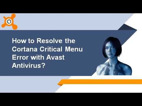 Facing Cortana menu critical error? It is the most common issue reported by the Windows user. Want to resolve Cortana menu critical error go through with this video and follow the mentioned steps. If you're unable to fix this error then contact Avast support experts by calling toll-free helpline number 1-855-254-6999. They guide you complete process to resolving this error or check our blog for more related help at http://bit.ly/2wsQ9eT