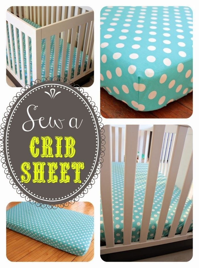 How to sew a crib sheet featured at the Weekend Wind-Down Link Party No. 8