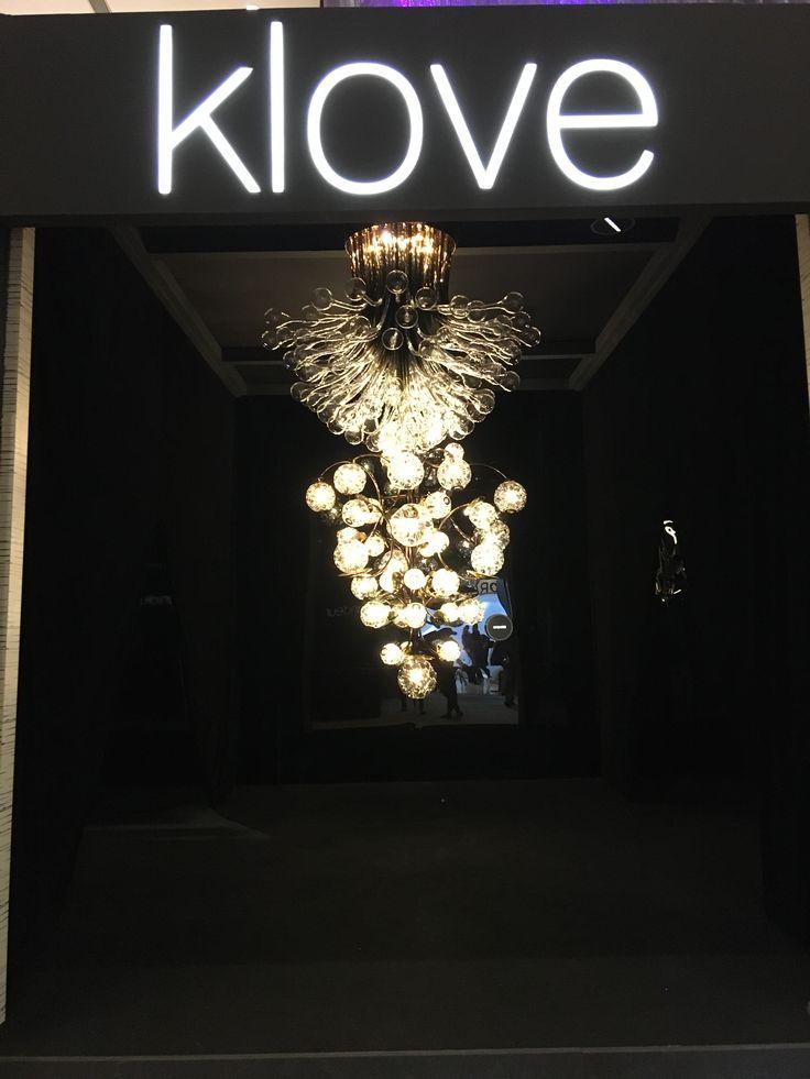 Amazing blown glass chandeliers by Klove studio at Decorama - Sahara Star, Mumbai.