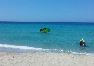 At Naxos kitesurf Club our instructors are not afraid to get wet! They are with you during the whole time of your kitesurfing course!!!