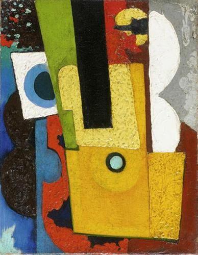 Composition with guitar - Amadeo de Souza-Cardoso
