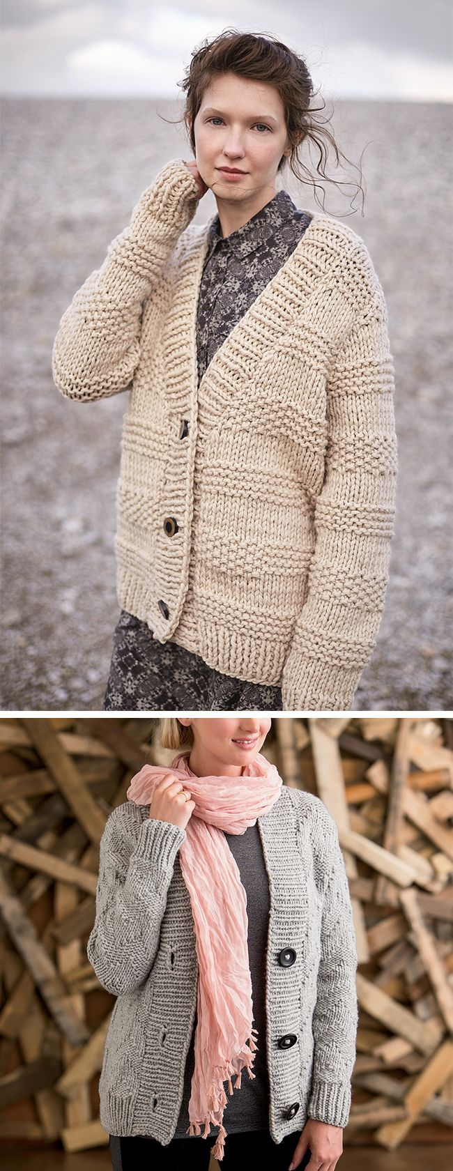 Between the bleak weather here in Tennessee and the skeins of bronze-colored bulky merino flirting with me from my worktable, I'm preoccupied with bulky cardigan patterns right now. In additi…