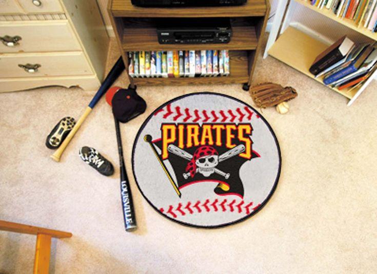 27in Round Pittsburgh Pirates Baseball Mat