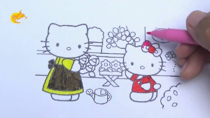 Pi n' Mo: Coloring Pages For Kids With Hello Kitty Coloring Book #Page 5