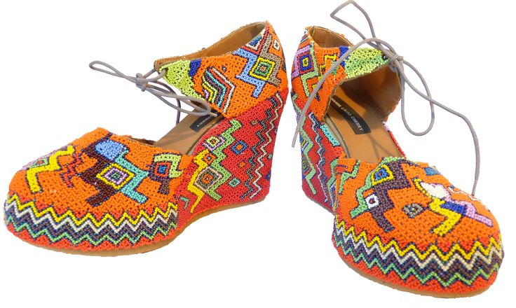 Beaded shoes by Lindi www.hillcrestaids.org.za