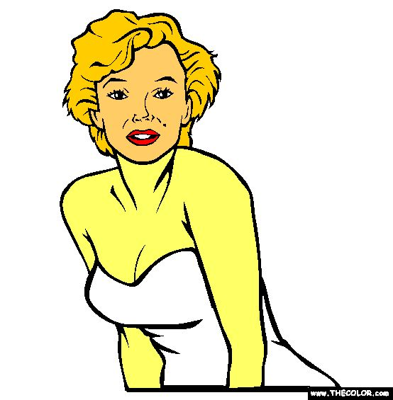 11 Best My Color Pages From Thecolor Com Images On Pinterest 100 Marilyn Coloring Pages