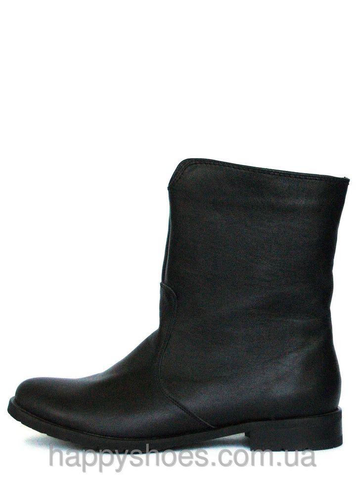 """Купить Ботинки трубы черные кожаные в Запорожье от компании """"HappyShoes"""" - 219172669"""