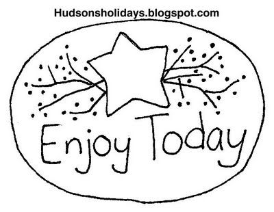 Hudson's Holidays - Designer Shirley Hudson: Enjoy today- Free stitchery pattern