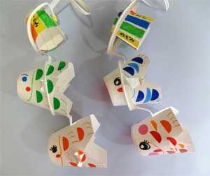こいのぼりを簡単手作り工作!紙コップや画用紙で子供と作ろう   コタローの日常喫茶