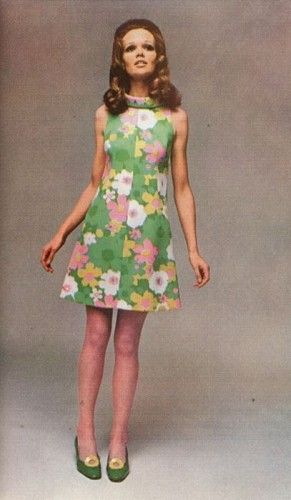 1960s green pink print dress. Tons of other amazing vintages dresses too.