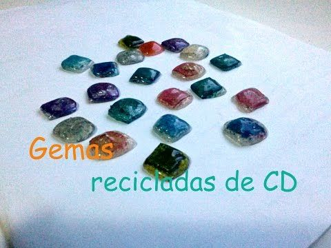 Gemas recicladas de CD - YouTube