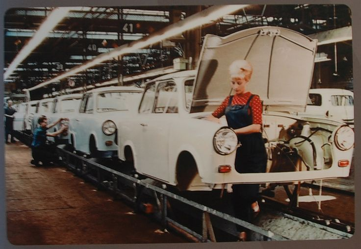 Trabant 601/P600 production line, Sachsenring works, Zwickau, 1960s