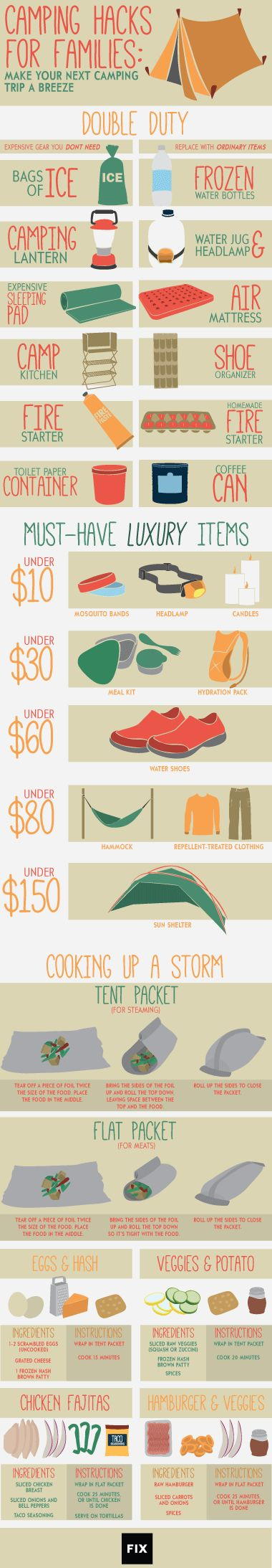 Love these Camping Hacks For Families from Fix.com by @amywhitley