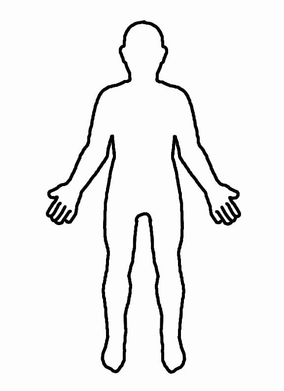 24 The Human Body Coloring Book In 2020 Body Outline Body