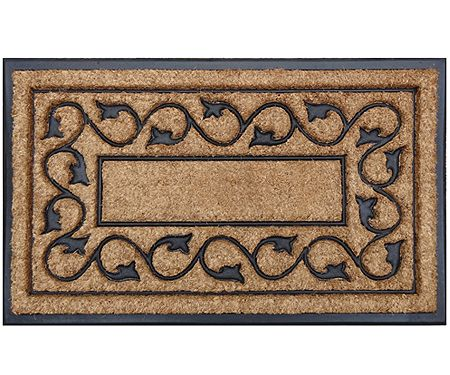 Ivy Border Coir & Rubber Doormat - Regular