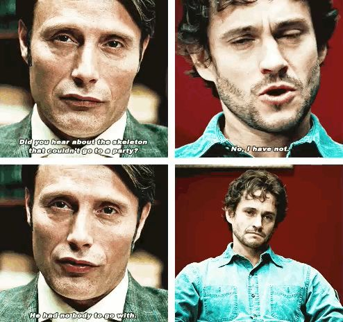 15 Perfect Jokes That Hannibal Lecter Told. God, these are brilliant and I'm reading all these bad jokes in Mads's accent!!!