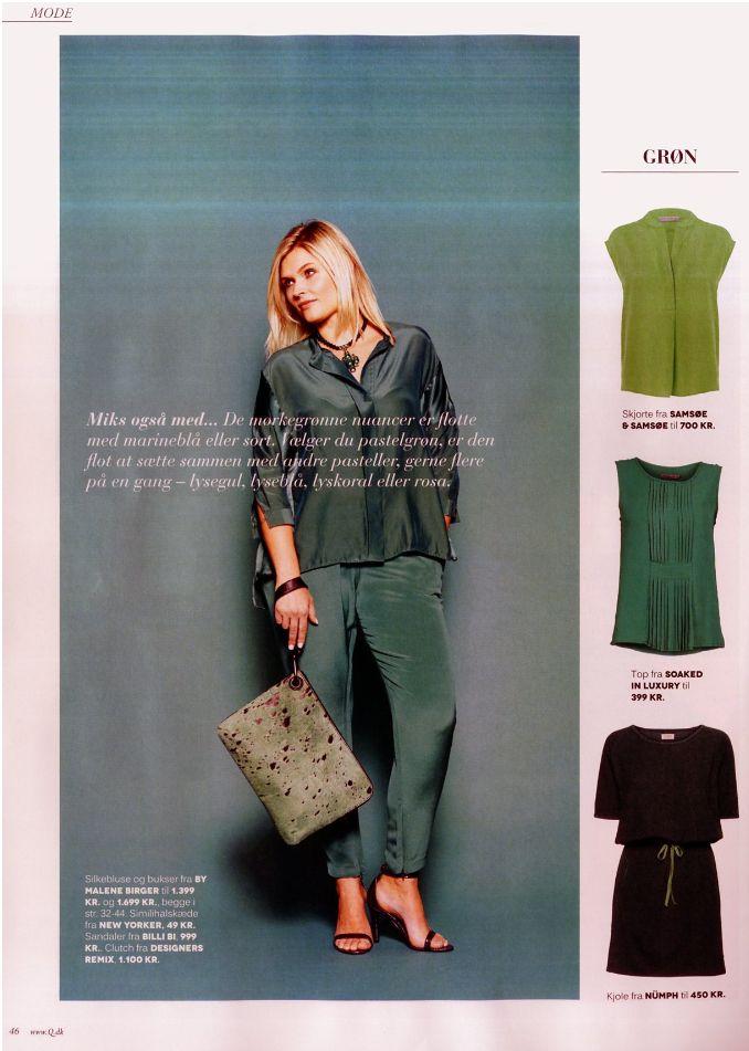 Soaked in Luxury top in danish Q magazine