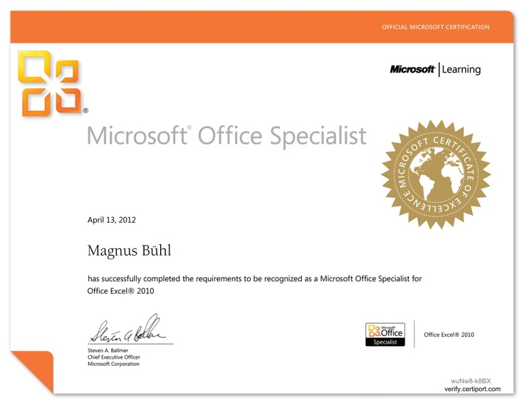 Meine Prüfungen zum Microsoft Office Specialist für die Versionen 2003 und 2007 sind schon eine Weile her. Da ich nun wie berichtet im Sommersemsterdieses Jahres meine Studenten an die Prüfung zum Microsoft Excel Specialist für die Version 2010 vorbereite, habe ich mir gestern die beiden Prüfungen für Word 2010 und Excel 2010