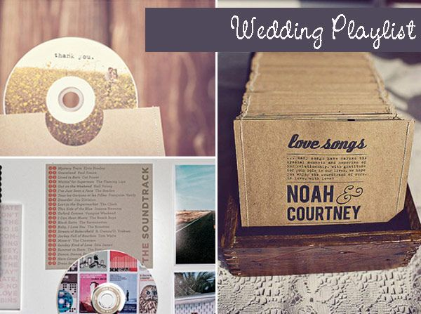 CD of wedding playlist - great favour idea
