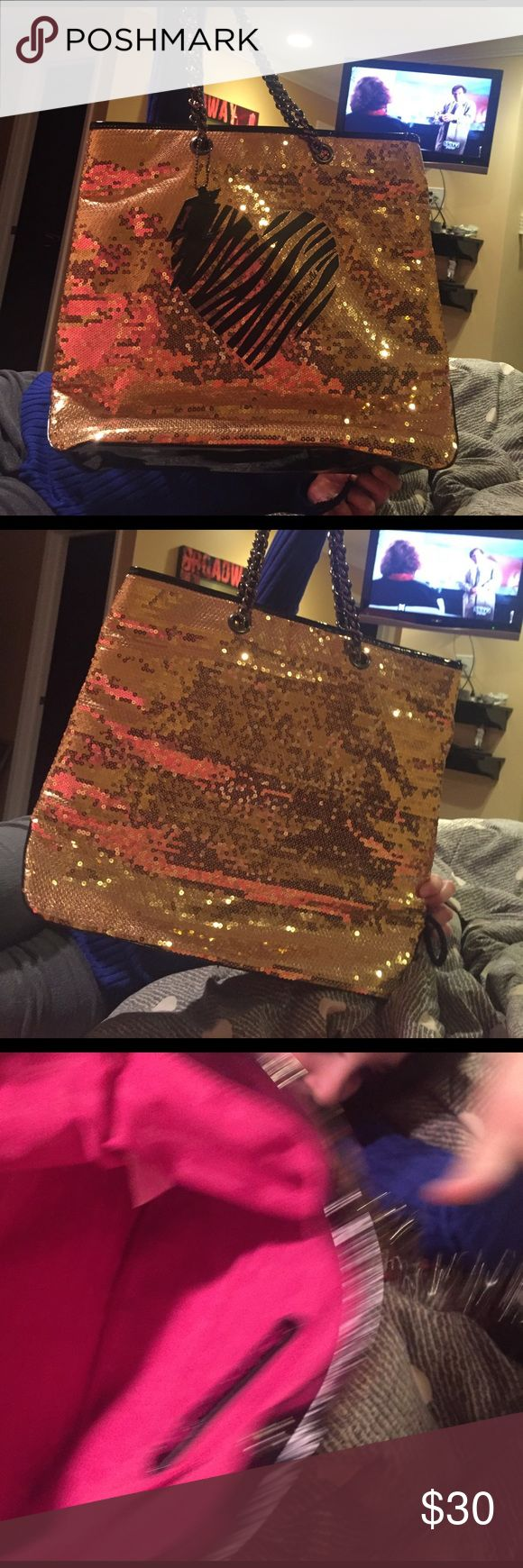 Gold tote Bag Tote Bag Betseyville Bags Totes