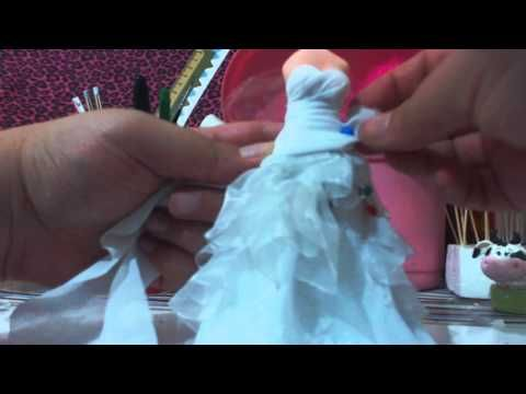 Como fazer a calça social realista no noivo humanizado em biscuit - YouTube