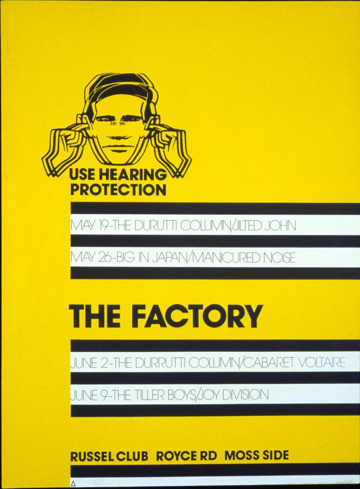 Poster by Peter Saville for The Factory