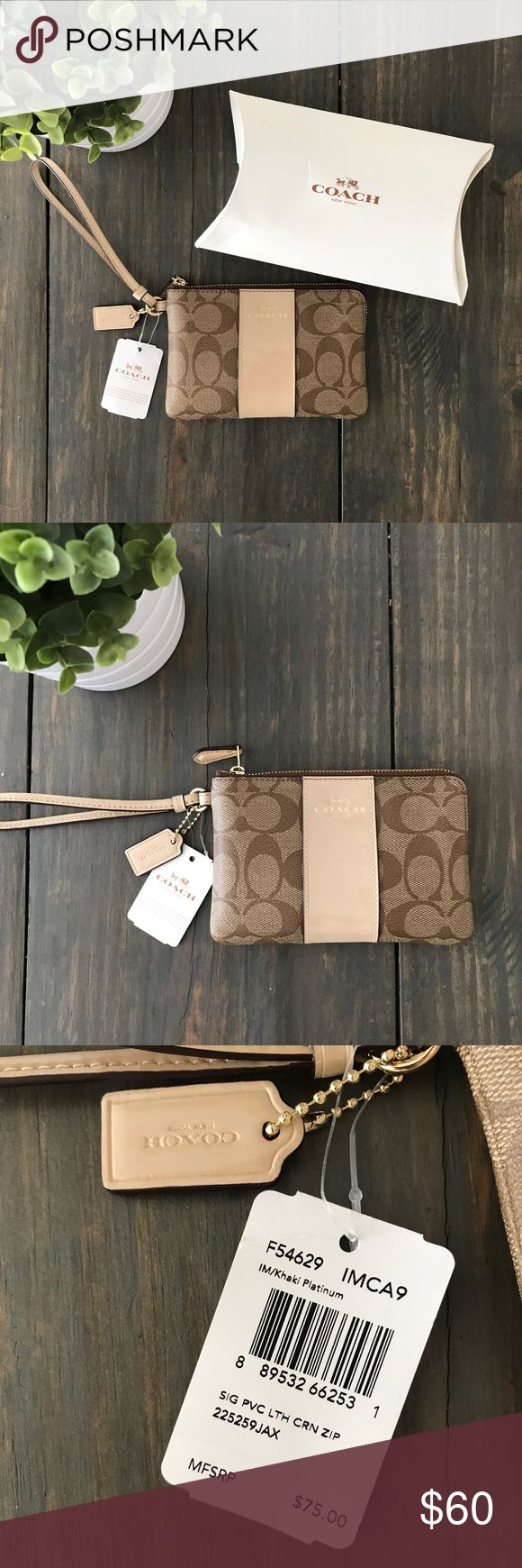 NWT! Coach Clutch Wristlet NWT! Authentic. Never used. Neutral color. Comes with original box, care instructions, and protective tissue paper inside. Coach Bags Clutches & Wristlets