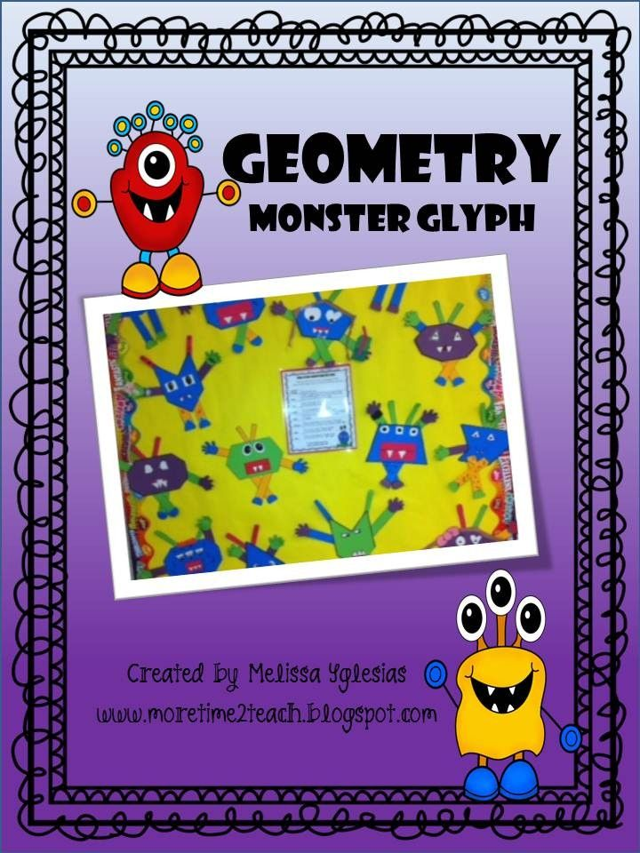 Need a fun activity to end your Geometry Unit? If so, then this might be just what you're looking for. With this Geometry Monster Glyph craftivity your students will have a blast creating their very own unique monsters all while reviewing geometrical terms learned in class.