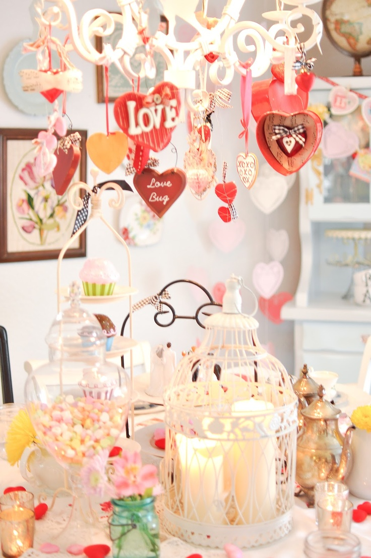 Valentine table decorations pinterest - More Valentine Table Ideas
