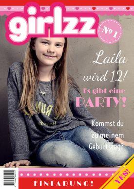 Kindergeburtstag Mit Fotoshooting? Tolle Einladung In Pink Zum 12.  Geburtstag In Trendy Zeitschriften