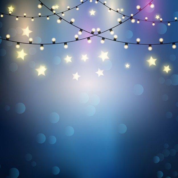 Background with lights and stars Free Vector