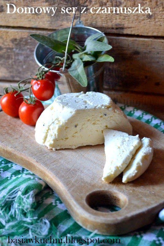 Basia w kuchni: Domowy ser z czarnuszką - wyzwanie Ugotuj z nami
