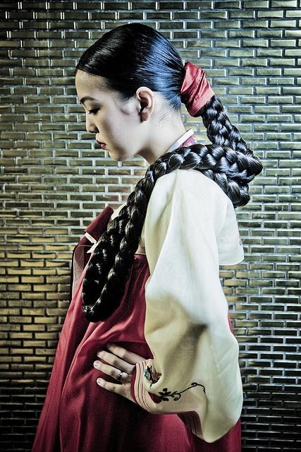 .Korean, beautiful braid