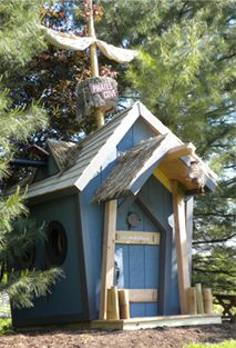 Custom Playhouses...would be so cool for the boys!