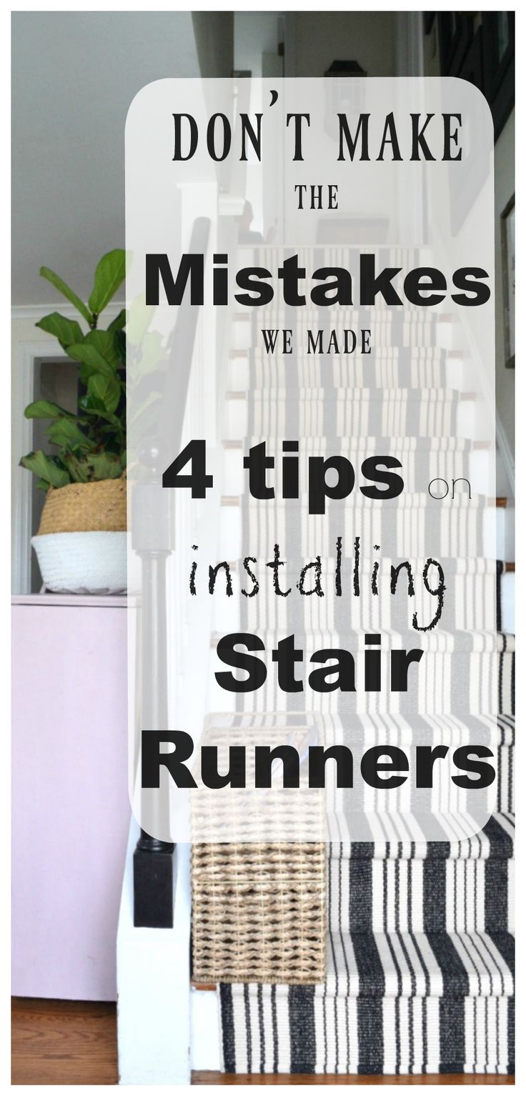 Don't make the Mistakes we made Installing a Stair Runner  #staircases #stairrunner