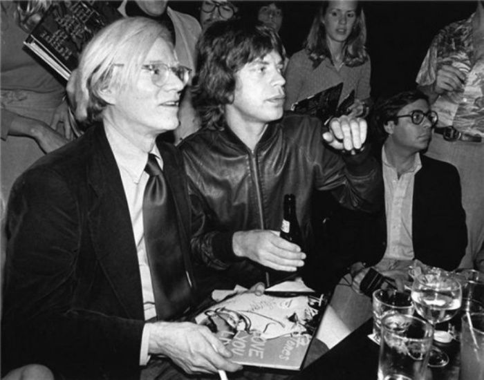 Энди Уорхол (Andy Warhol) и Мик Джаггер (Mick Jagger), 1977 год.