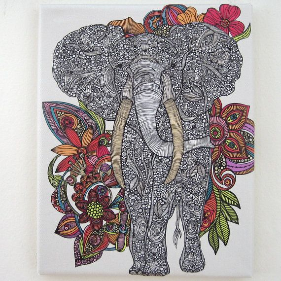 10 Best Images About Zentangle Elephants On Pinterest