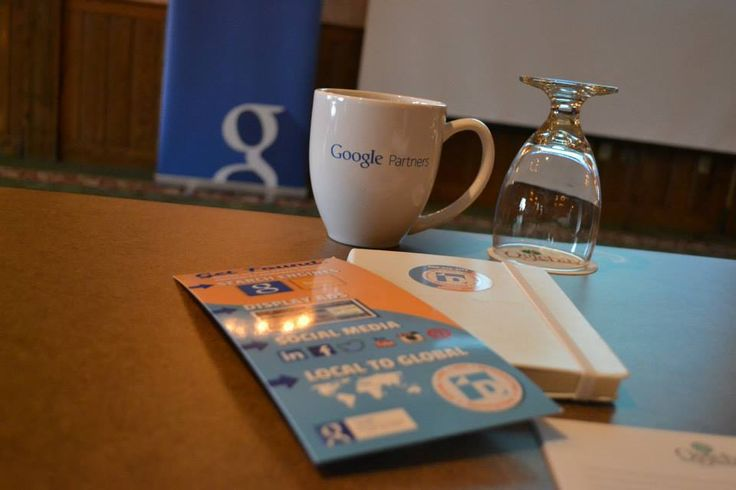 Close up of Google & DirectOM Swag