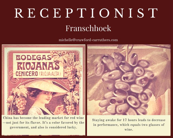 #crawfordcarruthers @crawfordandcarruthers #winelands #franschhoek #receptionist #receptionjobs
