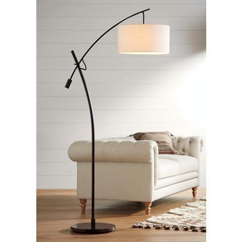 Possini Euro Bronze Finish Boom Arched Floor Lamp - #V2695 | Lamps Plus
