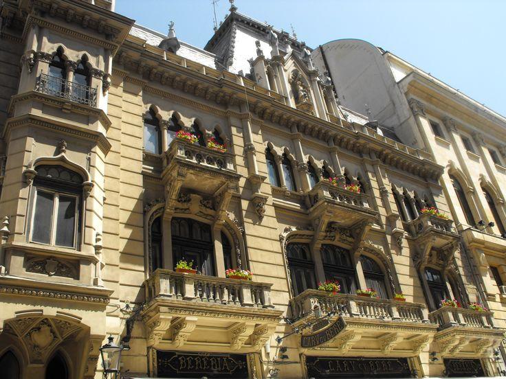 Bukarest -Romania-Old building balcony architecture