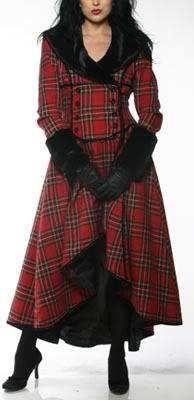Edinburgh Deathwish duster (46-461), RRP $160. Black, magenta tartan, green tartan, and red tartan. photo 46-461A.jpg