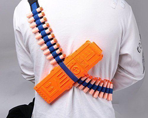 Yosoo Toy Gun Bullet Shoulder Strap Darts Bandolier Kit Ammo Storage Holder For Elite Nerf N-strike Blasters Yosoo